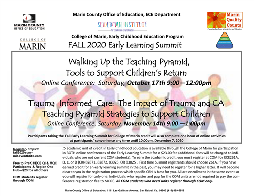 Image of Early Learning Summit flyer