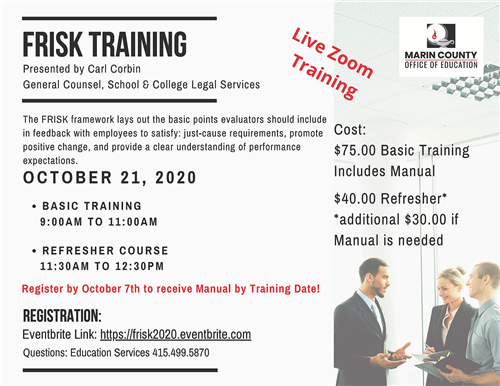 Image of the FRISK Training flyer