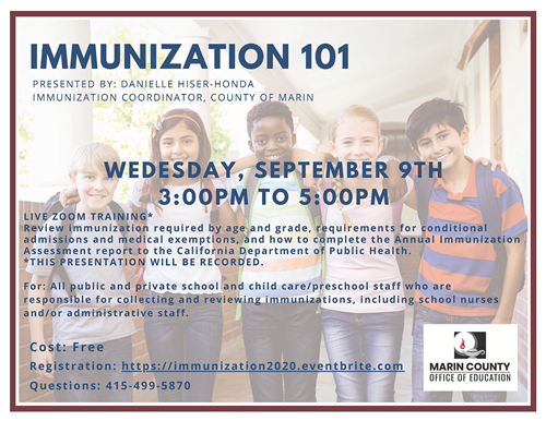 Image of Immunization 101 Training flyer