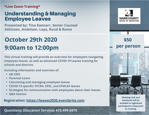 Image of Employee Leaves training flyer