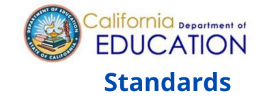 Image of the words California Department of Education Standards written in text