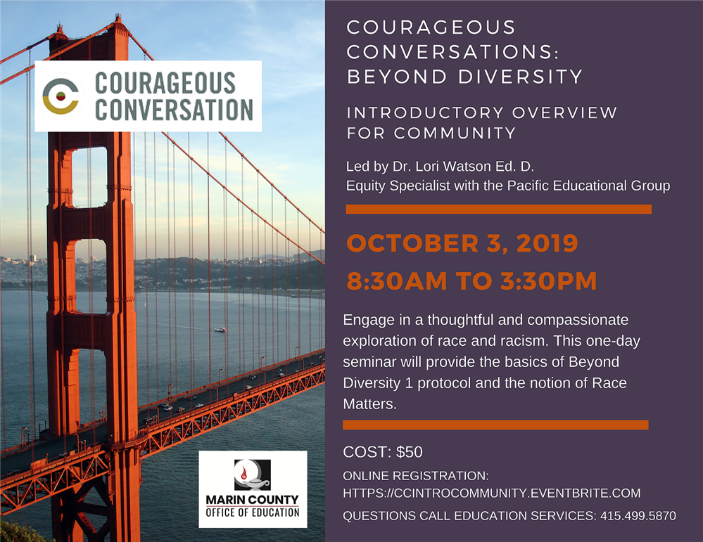 Image of the Courageous Conversations: Beyond Diversity workshop flyer