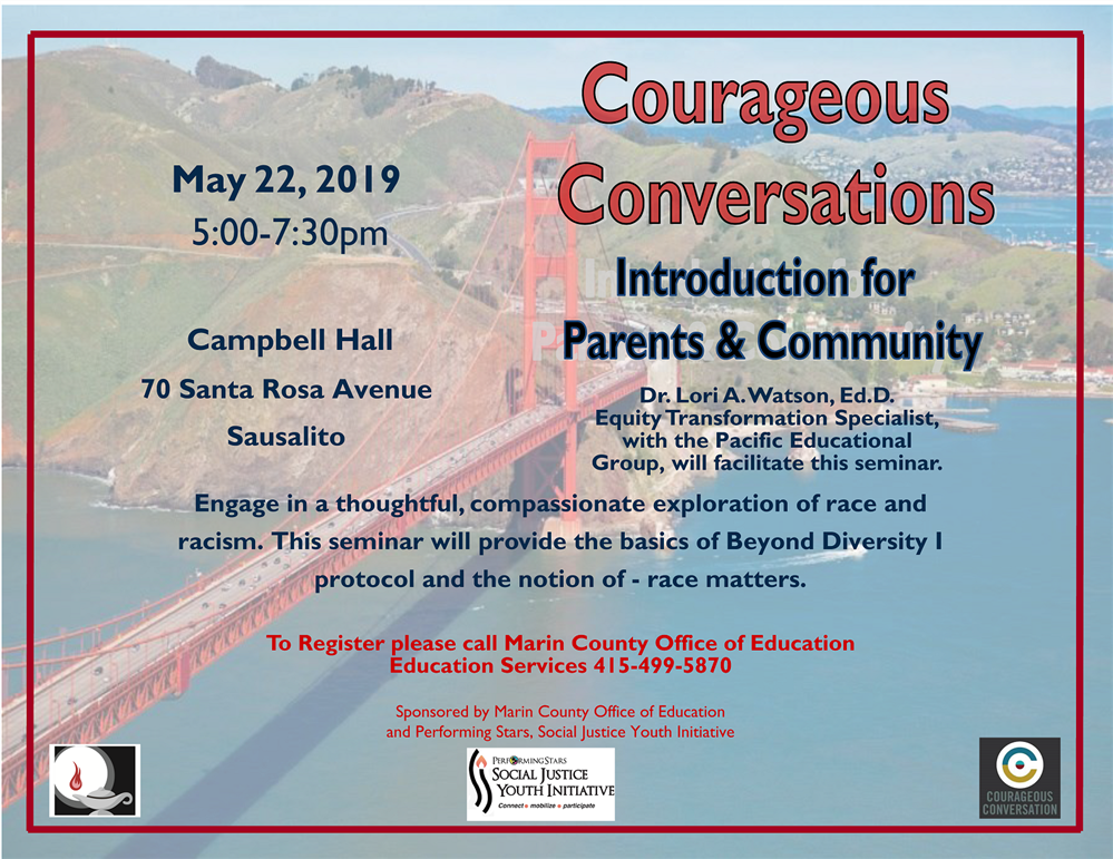 Courageous Conversations event flyer