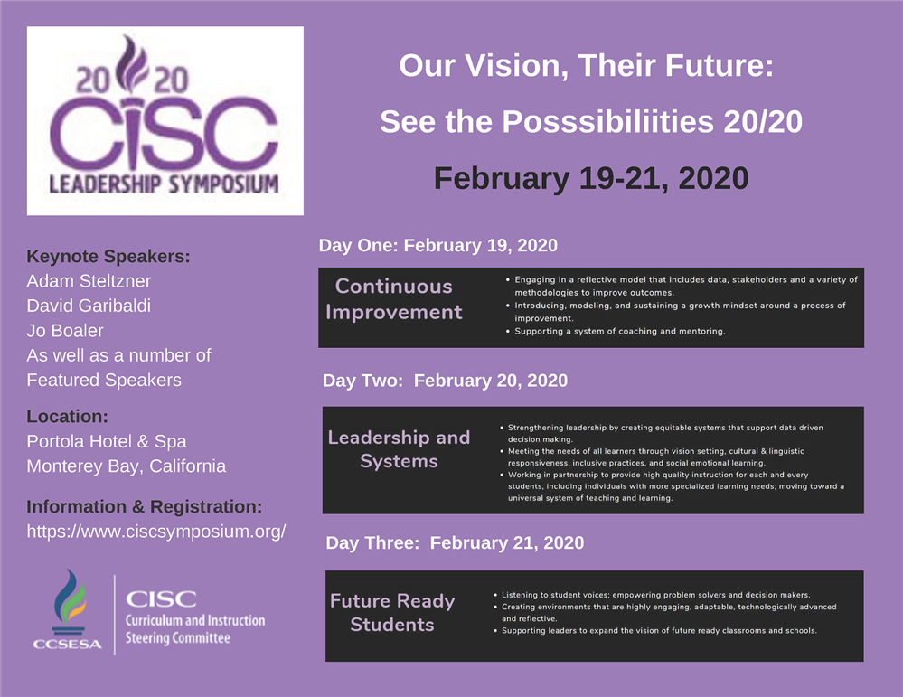 Image of the CISC Leadership Symposium flyer