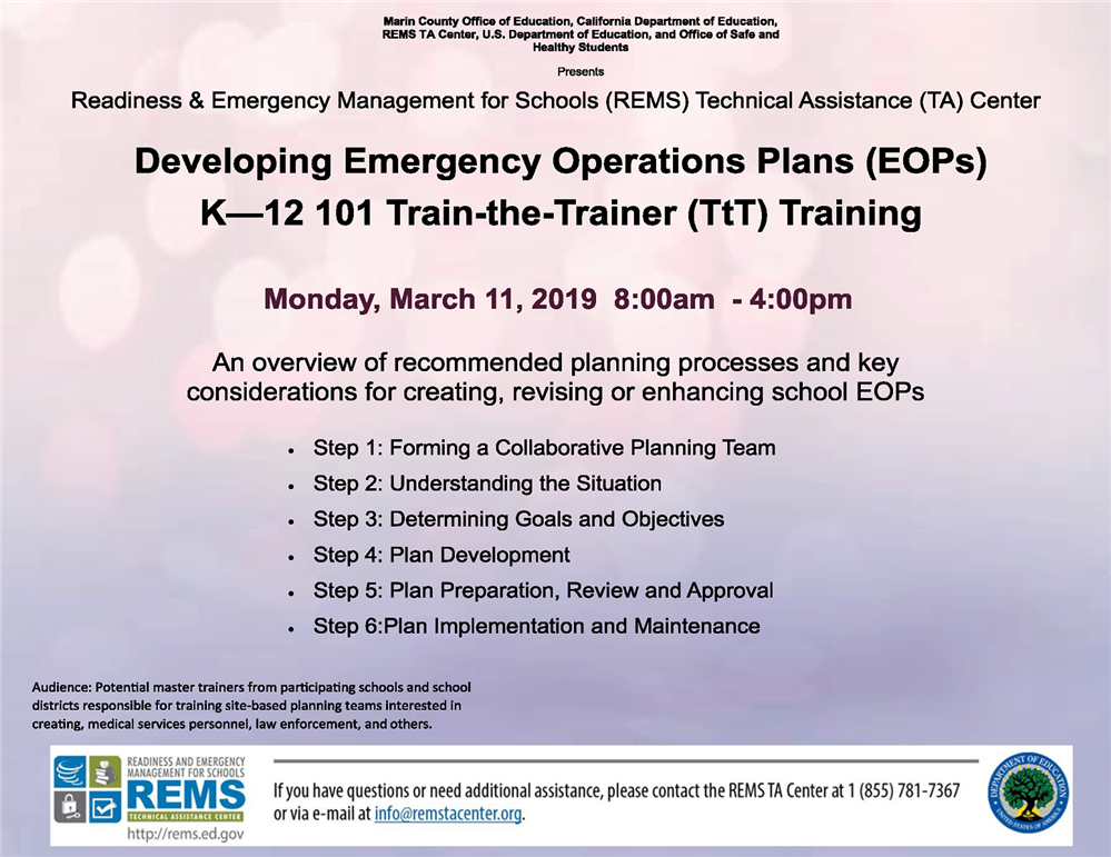 IMage of the EOP Development Flyer