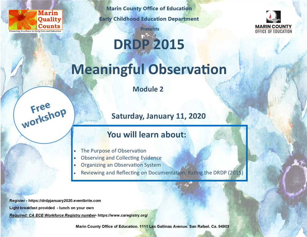 Meaningful Observation Workshop Flyer