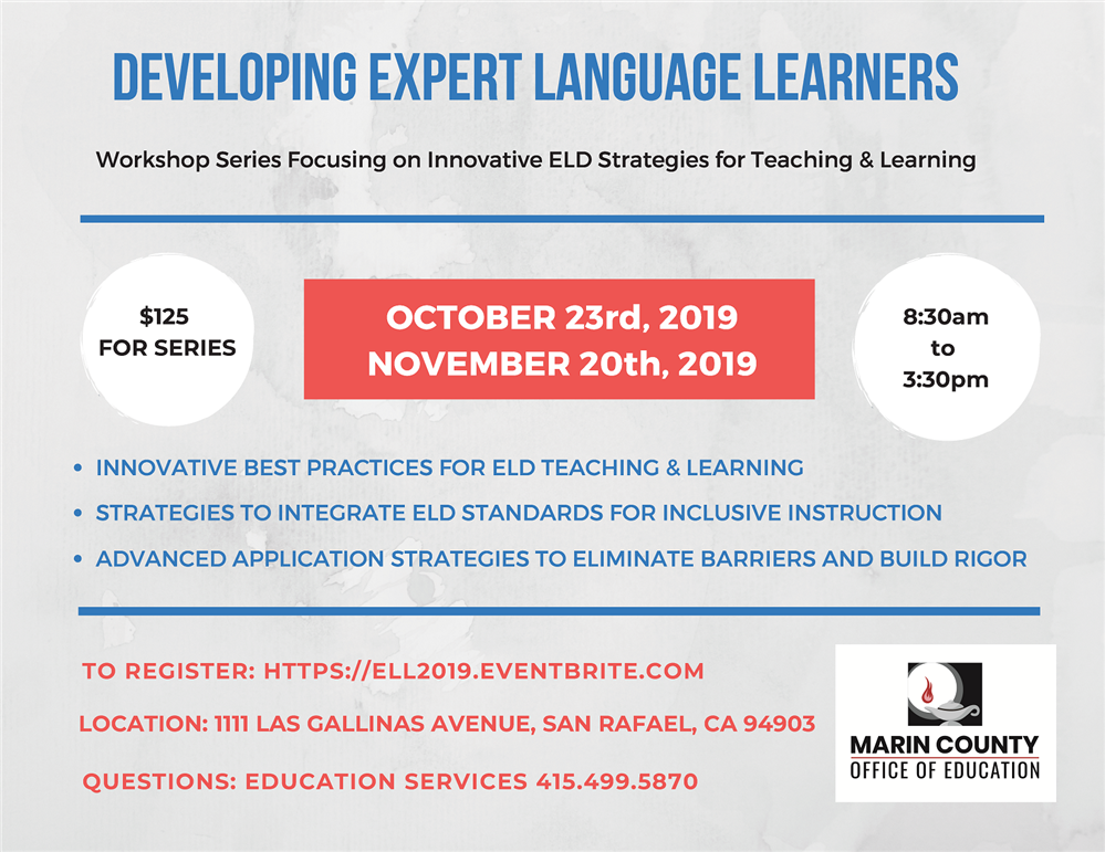 Developing Expert Language Learners workshop flyer
