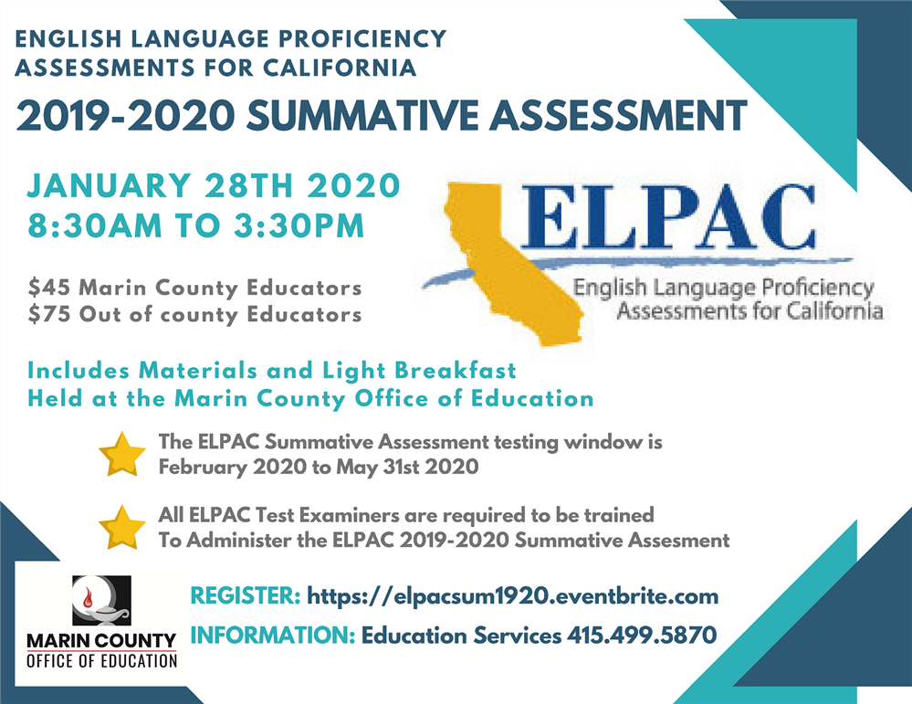 ELPAC Summative Assessment workshop flyer
