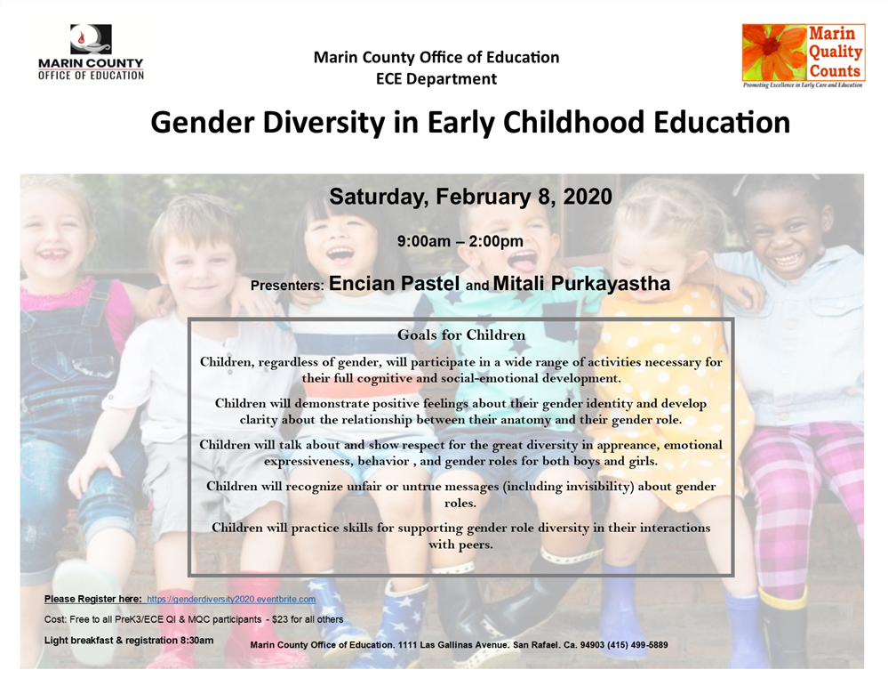 Gender Diversity in ECE workshop flyer