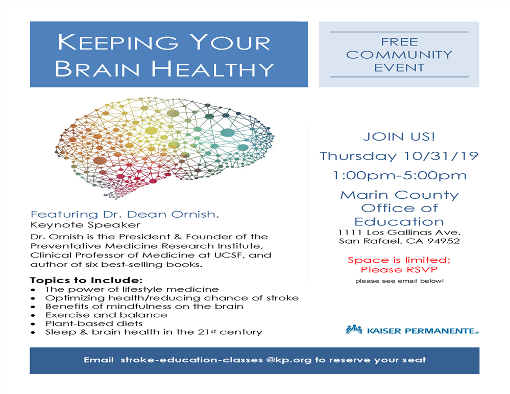 Keeping Your Brain Healthy workshop flyer