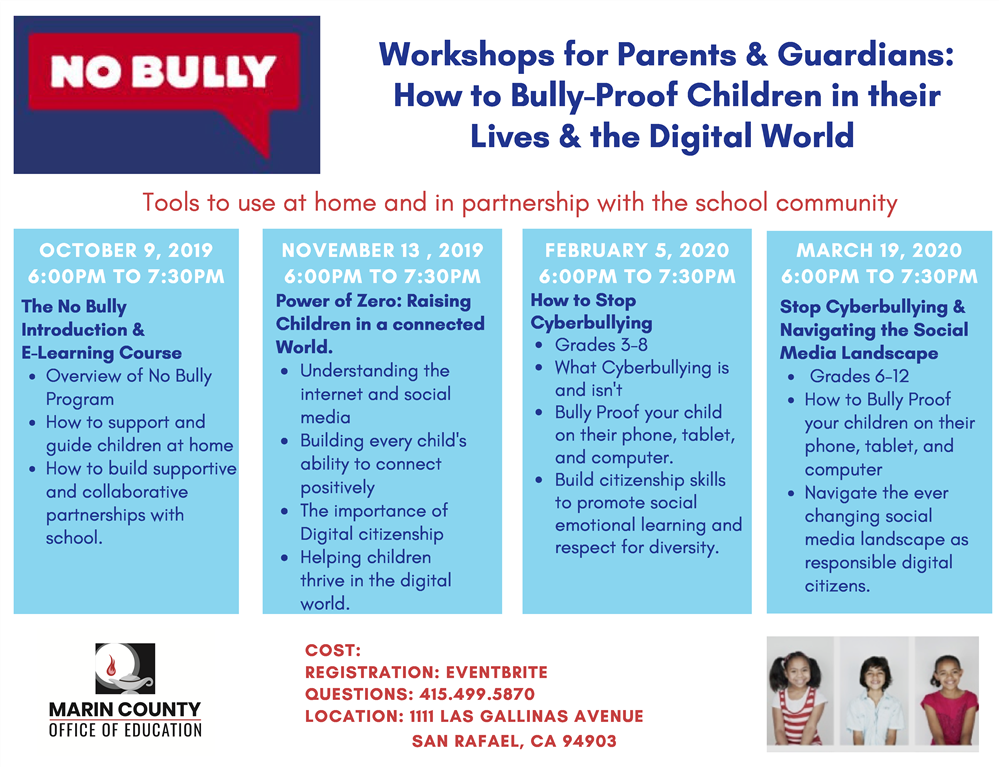 No Bully Workshop flyer