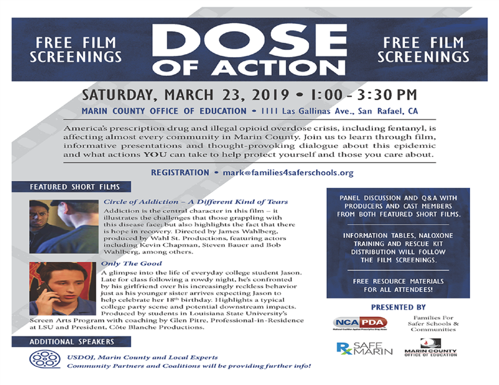 Dose of Action - Free Film Screening flyer