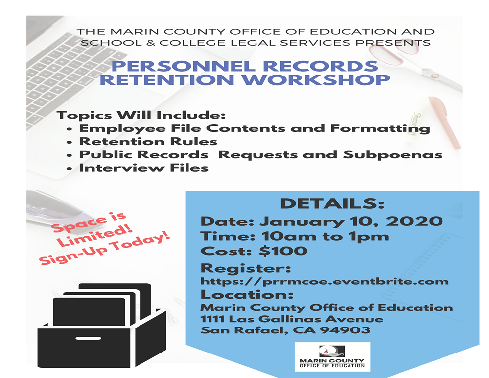 Image of the Personnel Records Retention Workshop flyer