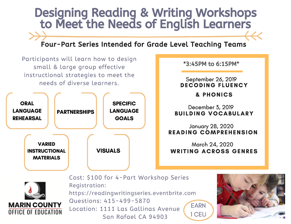 Image of the Reading & Writing Workshop flyer