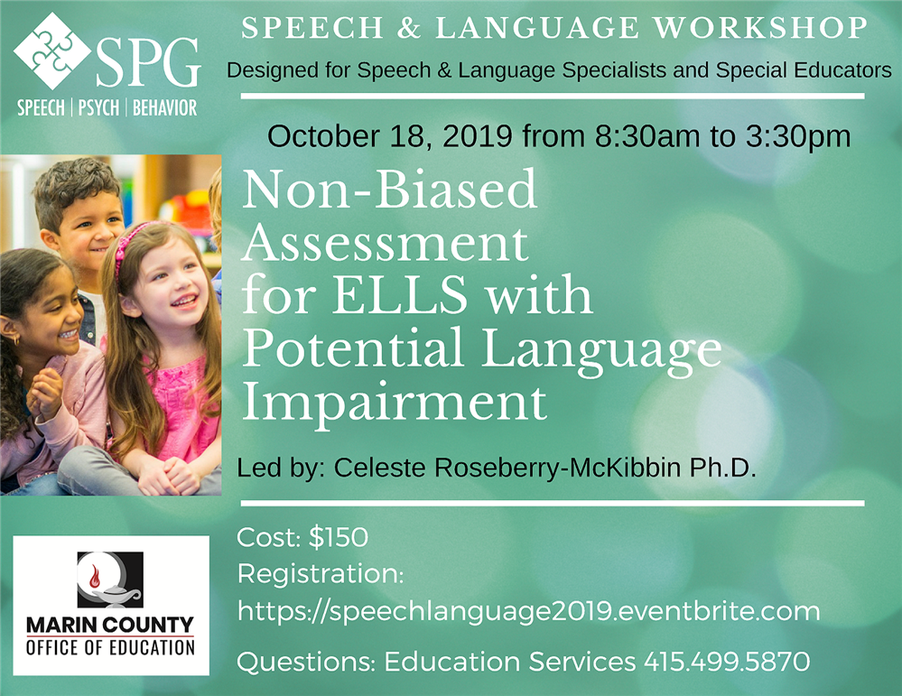 Image of the  Speech and Language Workshop flyer