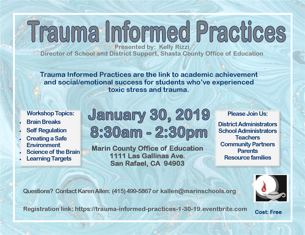 Image of the Trauma Informed Practices event flyer